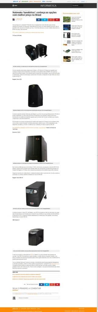Nobreaks baratinhos - G1 Informatica