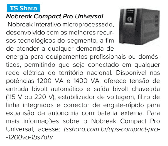 Nobreak TS Shara Compact Pro Universal